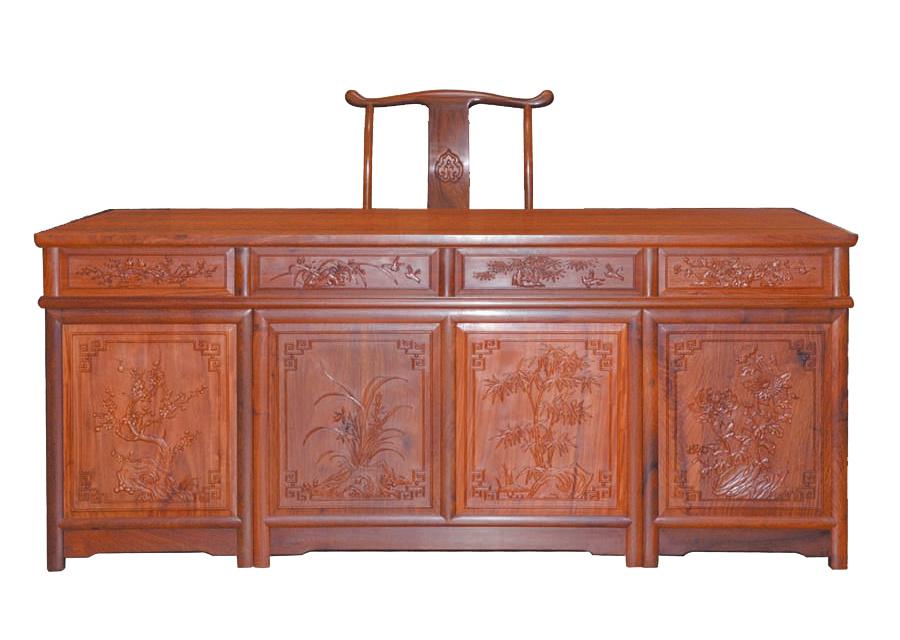 缅甸花梨办公桌