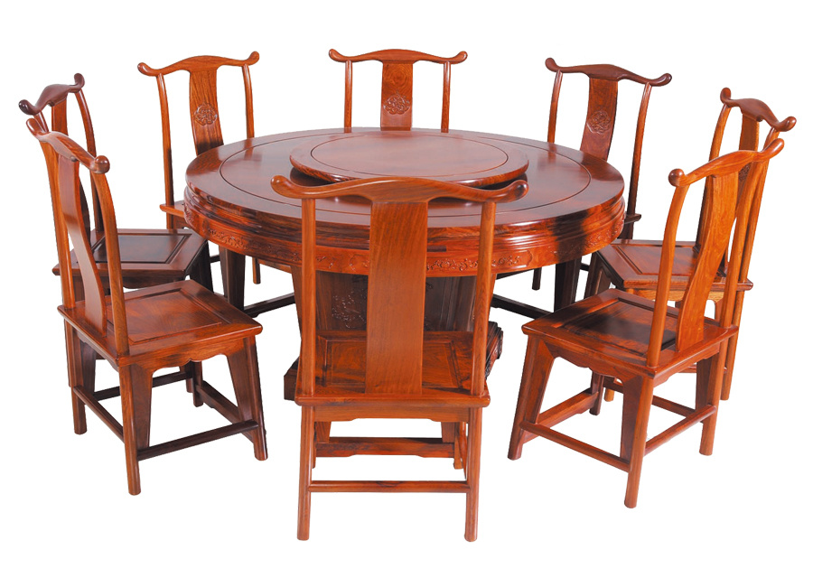 缅甸花梨圆桌