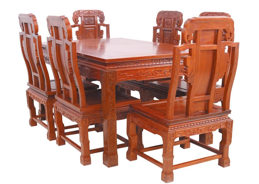 缅甸梨花象头餐桌